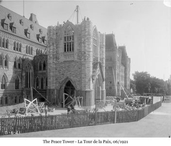 Peace Tower - La Tour de la Paix, 06/1921