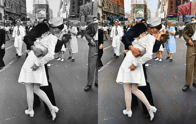 Kissing the War Goodbye, 1945 (Photo credit: Sanna Dullaway)
