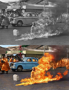 Thich Quang Duc's self-immolation, 1963 (Photo credit: Sanna Dullaway)