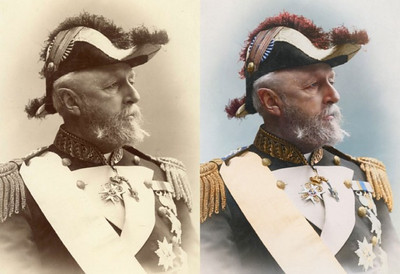 Oscar II, King of Sweden and Norway, 1880 (Photo credit: Sanna Dullaway)