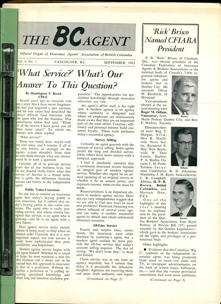1963 the bc agent