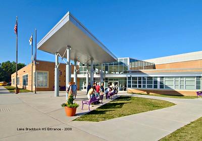Lake Braddock High School in Fairfax, Virginia -- a typical facility for VYEA Summer School.