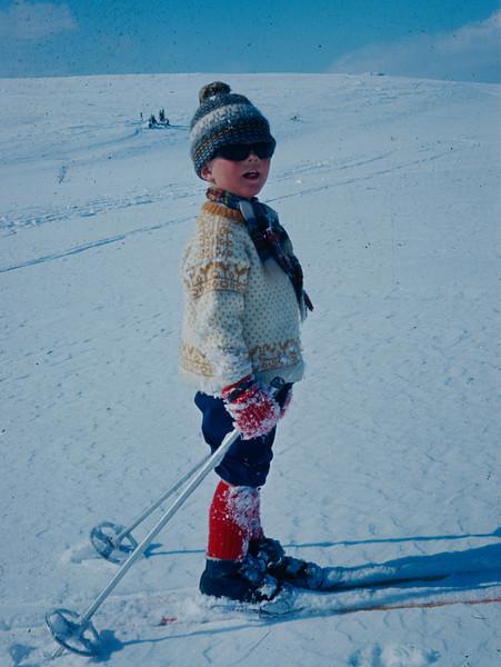 Jeg (Bjørn) er påsketurist på Lågfjellet. Kule solbriller!