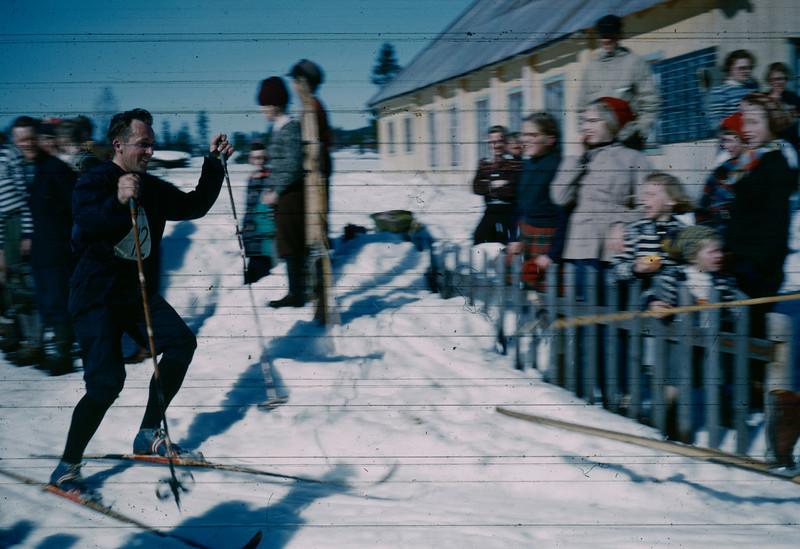 Hallgeir Brenden. Sannsynligvis NM på ski i trysil 1961