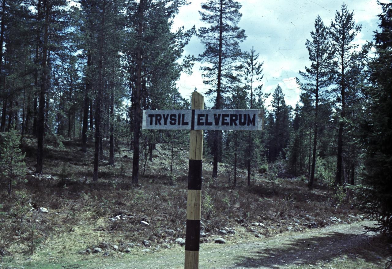 Bildet dekker mye av landskapsvariasjonen mellom Trysil og Elverum.