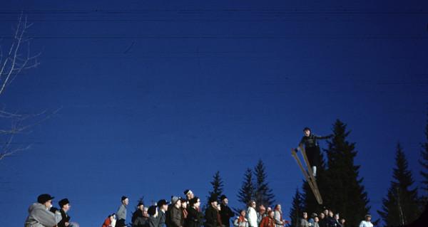 Fra serien med NM på ski 1961.