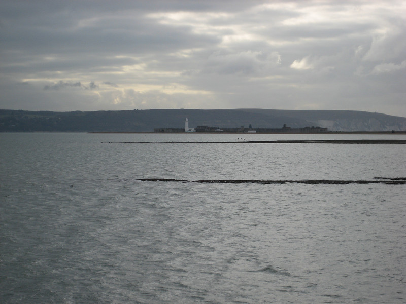 Hurst Castle with Isle of Wight behind
