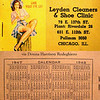 LEYDEN CLEANERS CALENDAR - 1947