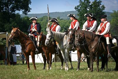Colonel George Washington (far left)