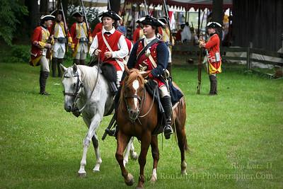 Colonel George Washington (in Blue)
