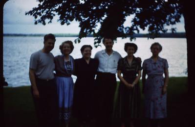 Everett Turner, Ruth Lyddon, Marie Bjerken, Maurice Turner, Bertha Padden, Hansena Christina Anna Marie (Sena) Turner