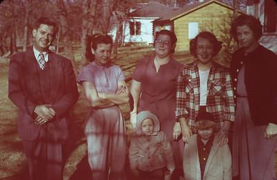 Maurice Turner, Bertha Padden, Marie Bjerken, Alice Anne Lyddon, Ruth Lyddon, Marguerite Bjerken, Tamara (Mary) Sue Padden