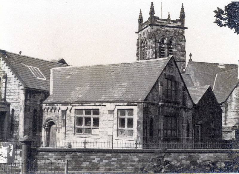 The old St Matthews school, what is now the church car park was the playground.