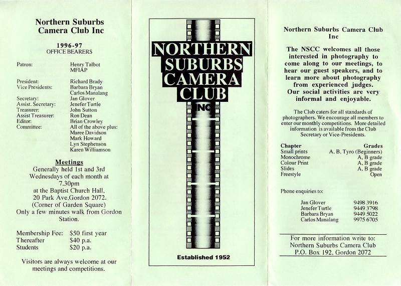 1997 Program - Front