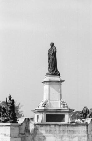 Outside the Victoria Memorial