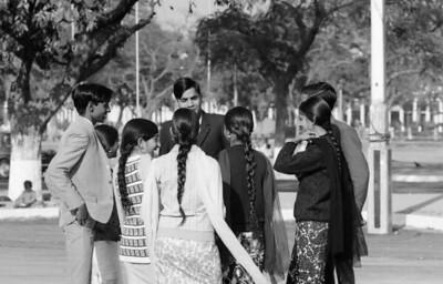 Around Connaught Circle, Delhi, December 1968