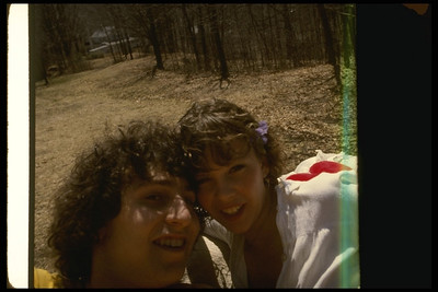 Shep and Nancy - Self Portraits - Utopia Spring 1979 (Gabor House in Background) Lake Hill, NY