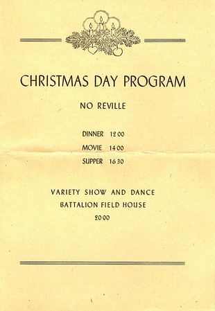 1st Engineer Combat Battalion - 1945 Christmas Day Program