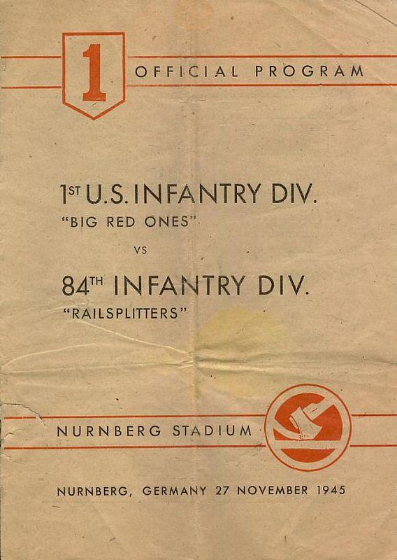 Official Football Program - 27 November 1945 - Nurnberg Stadium