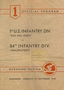 1st Infantry Division vs  84th Inf Div  - Football Game Program