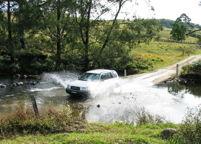 Barrington Tops - Chris makes a splash