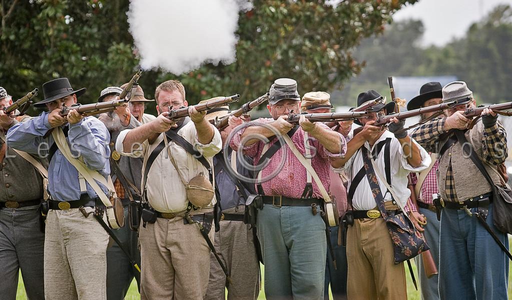 Confederate Firing Line - 8329