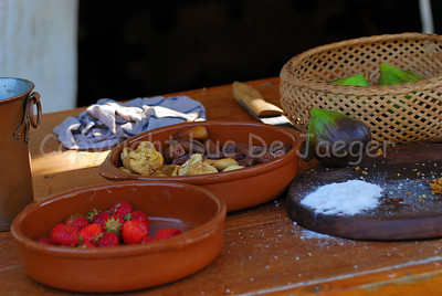 Preparation of some medieval food during the Ommegang festivities in Brussels (Brussel), Belgium.