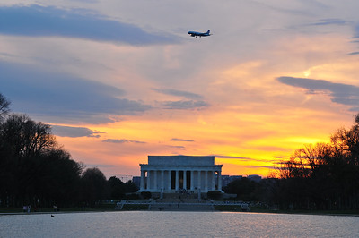 Lincoln Memorial at sunset