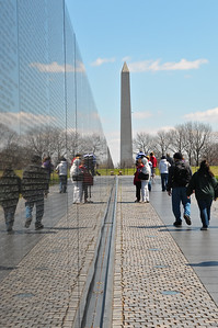 Vietnam Wall and the Washington Monument
