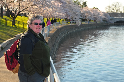 Jean along the Tidal Basin