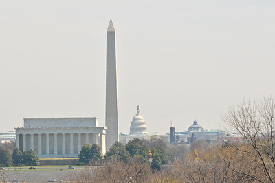 Lincoln Memorial, Washington Monument and the Capitol--view from Arlington