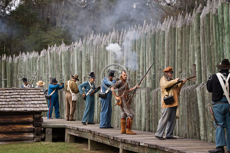 Regulars and militia repell seminole attack on the bridge.