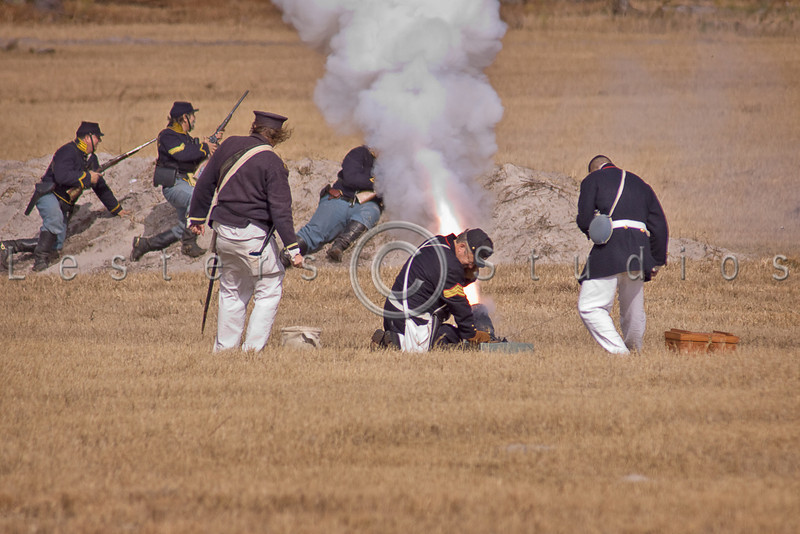 Union mortar fires