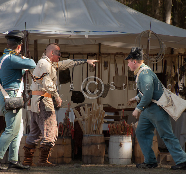 A conflict arises.  The merchant claims theft.  The Seminole claims that he was cheated.