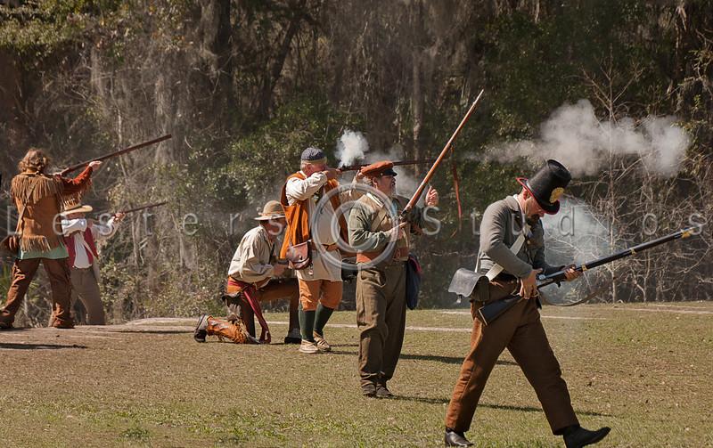 The militia takes the field.