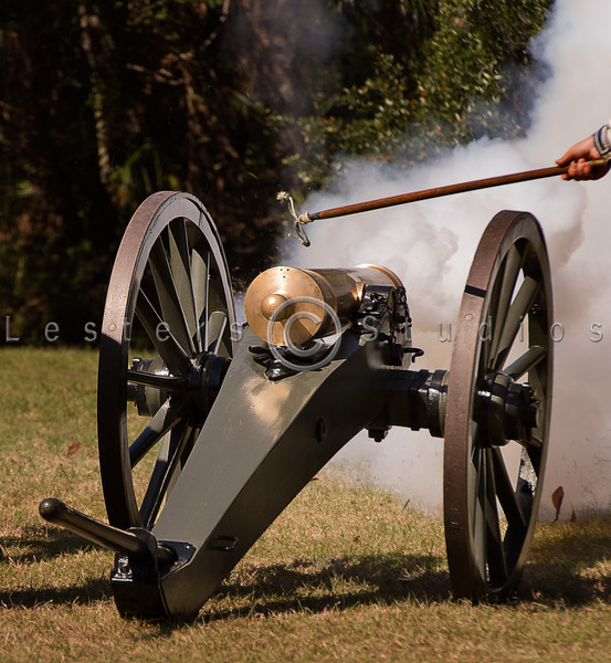 A mountain howitzer is brought into play.