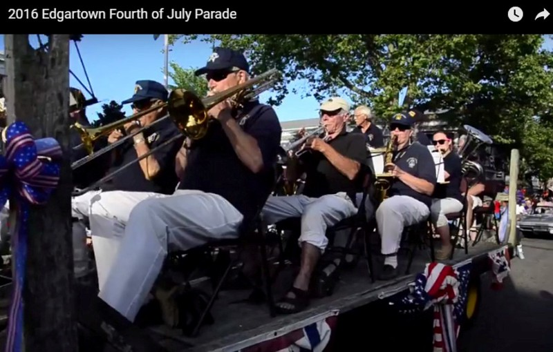 2016, 7-4, Rev, 'C', Band photo from Edgartown Parade
