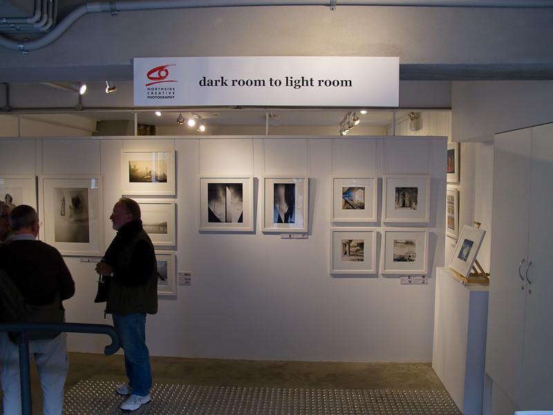 Dark room to light room exhibition opening