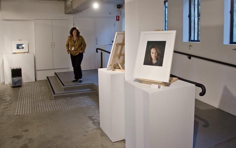 Dark room to light room exhibition