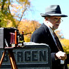"""Eben G.Fine,"" played by Chuck Sanders, talks about his life and love for nature and photography.<br /> The permanent residents of the historic Columbia Cemetery in Boulder came to life to tell their story on Sunday.<br /> For more photos and a video of the spirits, go to  <a href=""http://www.dailycamera.com"">http://www.dailycamera.com</a>. <br /> Cliff Grassmick  / October 7, 2012"