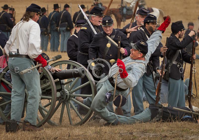 Canon crews were prime targets.