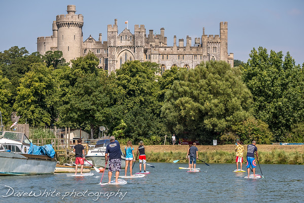 arundel castle by SUP