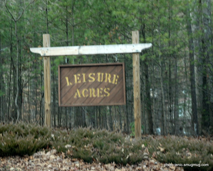 Leisure Acres Subdivision Sign = HOME