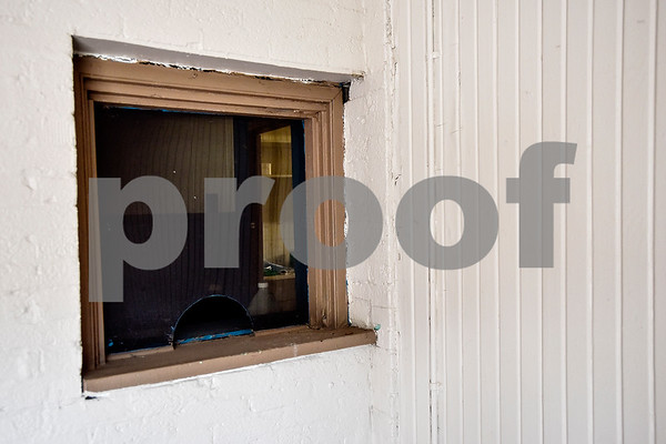 An old ticket window at the Mayfair Building, photographed in Tyler, Texas, on Thursday, April 20, 2017. The building was constructed in the early 20th century and has hosted a number of well-known musicians, including Elvis Presley, for performances. (Chelsea Purgahn/Tyler Morning Telegraph)