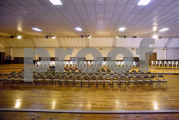 The view from the main stage at the Mayfair Building, photographed in Tyler, Texas, on Thursday, April 20, 2017. The building was constructed in the early 20th century and has hosted a number of well-known musicians, including Elvis Presley, for performances. (Chelsea Purgahn/Tyler Morning Telegraph)