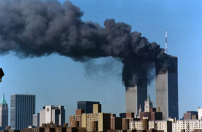 Downtown Manhattan, WTC from Brooklyn (Williamsburg) 9/11