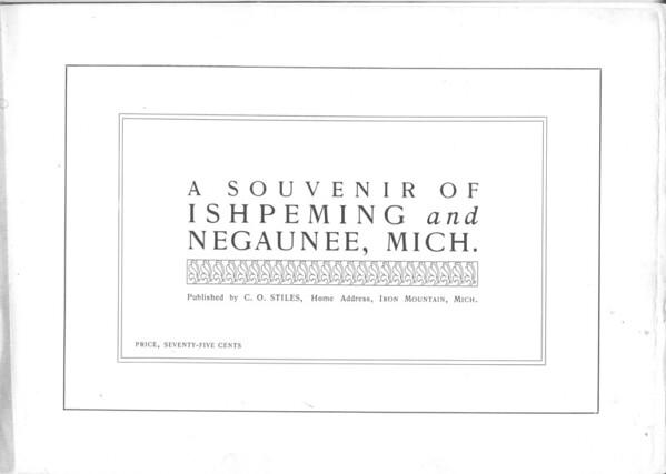 A Souvenir of Ishpeming & Negaunee
