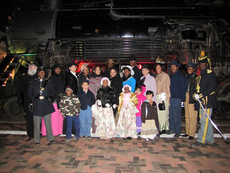 November 12, 2010 The Polar Express Train Ride.<br /> Buffalo Soldiers and Ladies and Gentlemen of the Regiment, Mesa, AZ