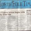 North Pole Times Newspaper - Polar Express Train Ride, Williams, AZ<br /> Awarded Buffalo Soldiers of the Arizona Territory - Ladies and Gentlemen of the Regiment, Mesa, AZ.  November 12, 2010