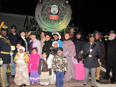 Engineer 29...The Polar Express Train Ride, Williams, AZ Buffalo Soldiers of the Arizona Territory - Ladies and Gentlemen of the Regiment, Mesa, AZ.  November 12, 2010